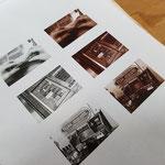 Druck der gerasterten Fotos digital