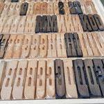 Verschiedene Holzschriften ...