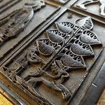 Kartendruckstock der Sieben