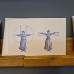 Wunderbare Postkarten, auch diese Damen schnaufen sicher ...