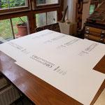 schnell sind die ersten Probeexemplare gedruckt