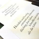 Im Vergeich oben die Handschrift unten die Druckversion