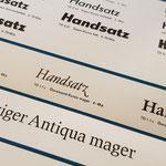 Eine Typoart Bleischrift Garamond kursiv mager