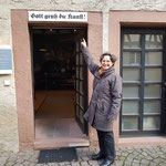 Am Eingang der Abteilung Druckgeschichte im Stadtmuseum ...