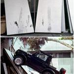 Tire-Rubbing (auf ehemaligen Galerie Stellwänden), University of California, San Diego, 1993