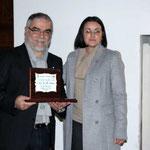 Il Direttore del Corriere di Taranto Leo Spalluto e Lucia La Sorsa  (Foto di F. Paolo Occhinegro)