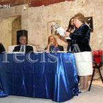 Intervento della Poetessa Anna Marinelli (Foto di F. Paolo Occhinegro)