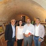 Con da sx il giornalista Leo Spalluto, l'editore Luciano Nuzzo ed il giornalista Alessandro Salvatore