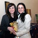 Lucia e Assessore alla cultura Alessandra D'Alfonso (Foto di F. Paolo Occhinegro)