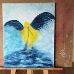 Die Geburt eines Engels: Erster Tag 2,5 Stunden gemalt