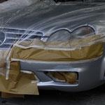 Auto abgeklebt zum lackieren