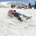 Sturtztechnik am Gletscher (Bild: Wolfgang Tafatsch)
