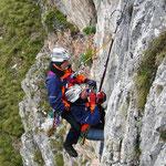 Kaperbergung aus Felswand
