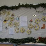Adventkalender mit Sternen