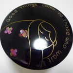 compact mirror of  lacquerwork