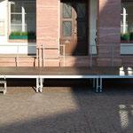Bühne 6x3m mit Geländer