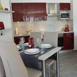Küche / Essbereich Fewo Nordseepalais im Palais-am-Meer