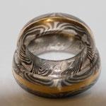 Silber-Palladium-mit eingeschmidetem Golddraht.