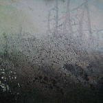 Schüttbild aus Acryl,Sand+Bitumen aus dem Kurs von Gerhard Almbauer im August 2011