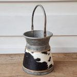 Art-nr 2052 Zink Pot + handvat H 18,5 cm / Ø 16,5 cm € 19,95