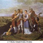 J.F. Mucke / Dolazak Hrvata