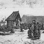 Katolička misa pod vedrim nebom u Bosni, Julius Tiry oko 1900.