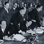 Potpis Trojnom paktu, 1941., u Beču - Cincar Marković, Predsjednik Cvetković i Ribbentrop