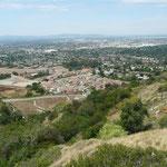 Aussicht von der Felix Fluorite Mine nach Westen auf Azusa, CA