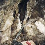 Baritkluft im Sardonaquarzit, Elm, GL