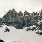 Tschingelhörner mit der berühmten Glarner Überschiebung und dem Martinsloch, Elm, GL