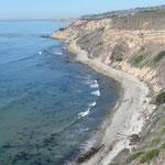 Steilküste bei Palos Verdes, Los Angeles, CA