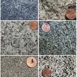 Granite und Granodiorite mit nicht eigengestaltigen Mineralien, Yosemite National, Park, CA