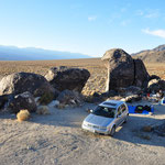 "Das ""Base Camp"" am Fusse der Inyo Mts., CA"