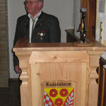 Karl Völker bei seiner Rede anlässlich des 20 jährigen Vereinsjubiläums
