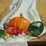 """""""Pumpkin-chilli-soup"""" Pastell, 29x39cm,(c)D.Saul 2014"""