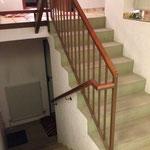 Erneuerung der Treppenstufen ....