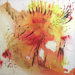 2005 Sonnenserie (4) Acryl auf Leinwand 100x100 cm