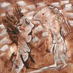 2007 Ohne Titel Acryl auf Leinwand 40x40 cm