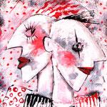 2008 Ohne Titel Acryl auf Leinwand 40x40 cm