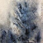 2012 Ohne Titel Acryl-Strukturpaste auf Leinwand 70x50 cm
