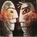 2007 Ohne Titel Acryl auf Leinwand 30x30 cm
