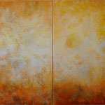 2015 (Diptychon) Ohne Titel Acryl-Strukturpaste auf Leinwand 120x180 cm