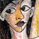 2016 Ohne Titel Zeichnung auf Foto 15x15 cm
