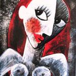 2010 Kleiner Akt Acryl auf Leinwand 30x25 cm