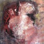 2010 Ohne Titel Acryl-Strukturpaste - Sand auf Leinwand 80x80 cm