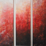 2010 (Triptychon) Ohne Titel Acryl-Strukturpaste-Sand auf Leinwand 120x120 cm