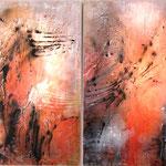 2017 (Diptychon) Ohne Titel Acryl auf Leinwand 120x180 cm