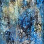 2019 Ohne Titel Acryl-Strukturpaste auf Leinwand 100x70 cm.