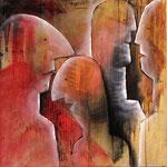 2000 Ohne Titel Acryl auf Leinwand 80x80 cm