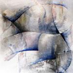1999 Verwoben Acryl auf Leinwand 100x100 cm
